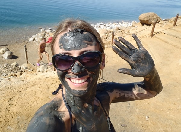 Abi in Dead Sea Mud