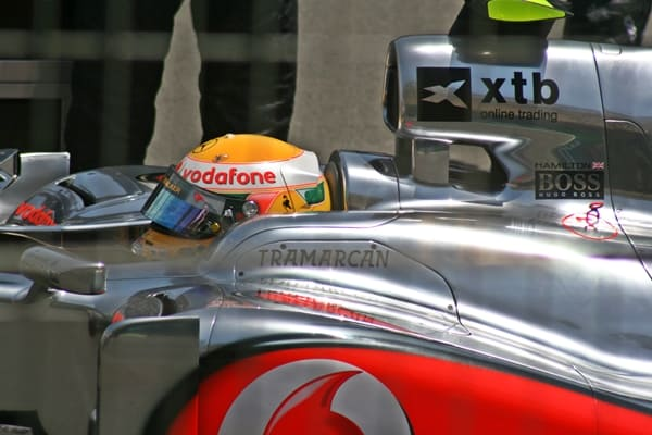 Lewis Hamilton - Formula One Valencia Grand Prix - Inside Car with helmet