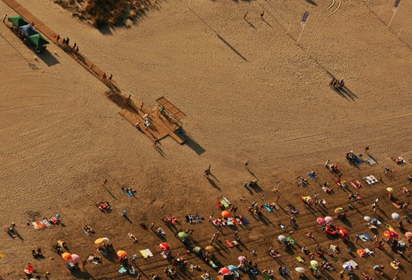 Picture of the beach at Benicassim from the Sky