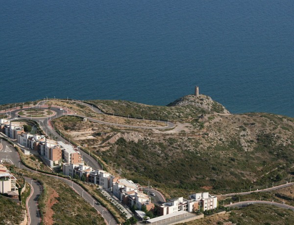 Picture of a Spanish tower from the sky
