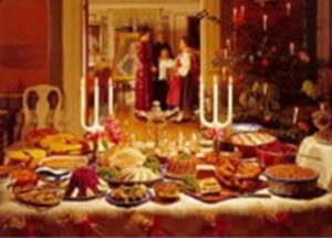 Traditional Christmas Eve Dinner in Calabria, Italy