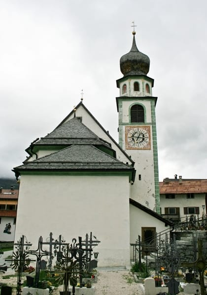 San Cassiano Church near Rosa Alpina