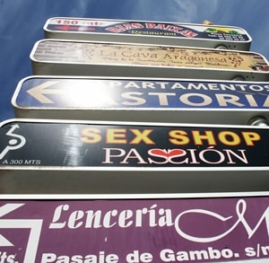 Sex Shop Sign Benidorm