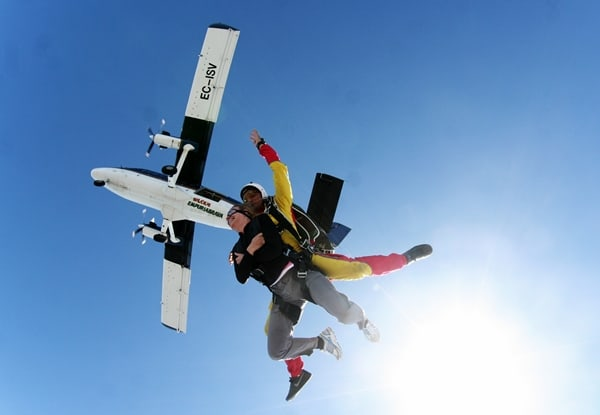 First photo about tandem skydive with aeroplane