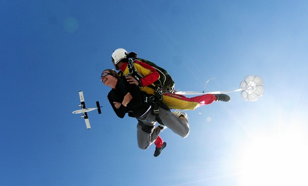 Tandem Skydive - Just about in view of the plane