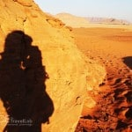 Chasing My Shadow in the Desert