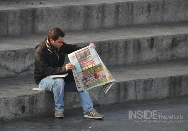 About Istanbul - Man with newspaper