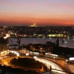 About Istanbul - a thriving city at night that straddles Europe and Asia