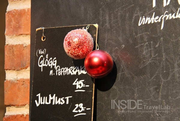 Swedish Christmas chalkboard