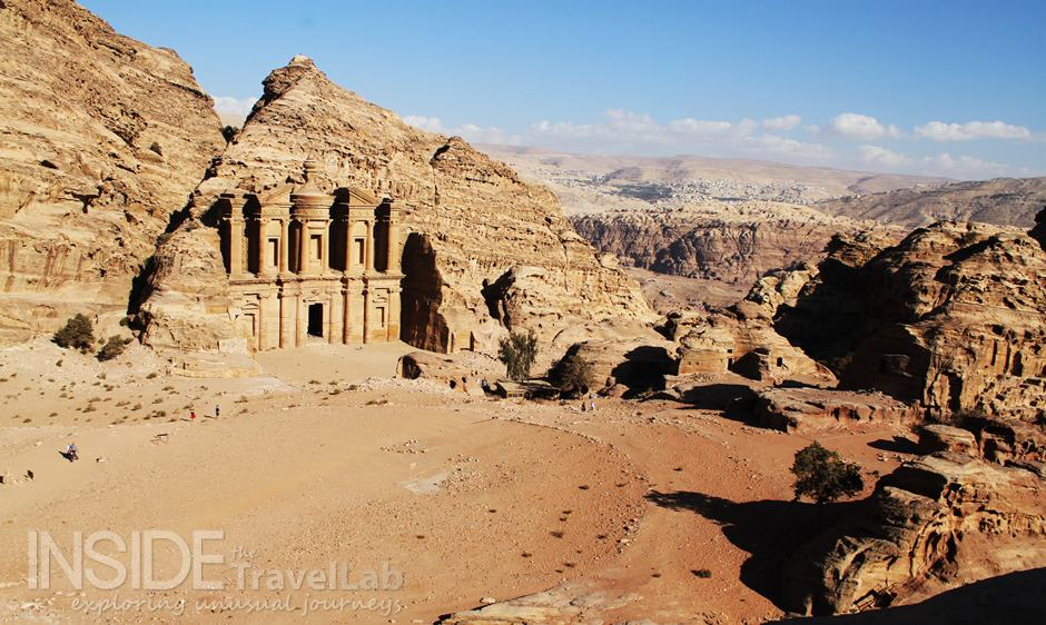 Petra Monastery from Afar