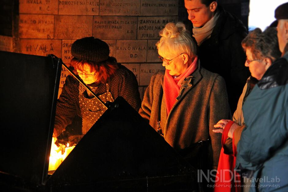 Lighting Candles in Zagreb