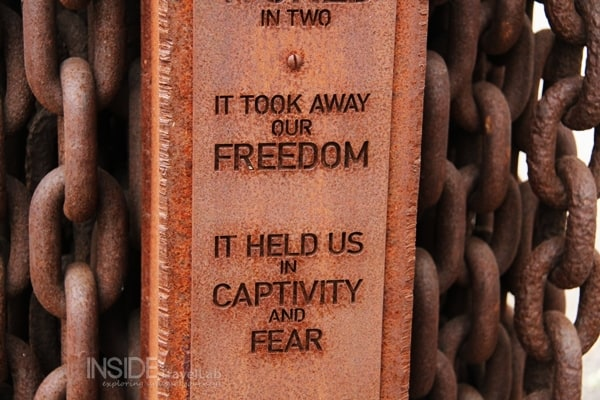 Iron curtain sign - it took away our freedom