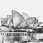 The Sydney Opera House At Night Pencil Drawing