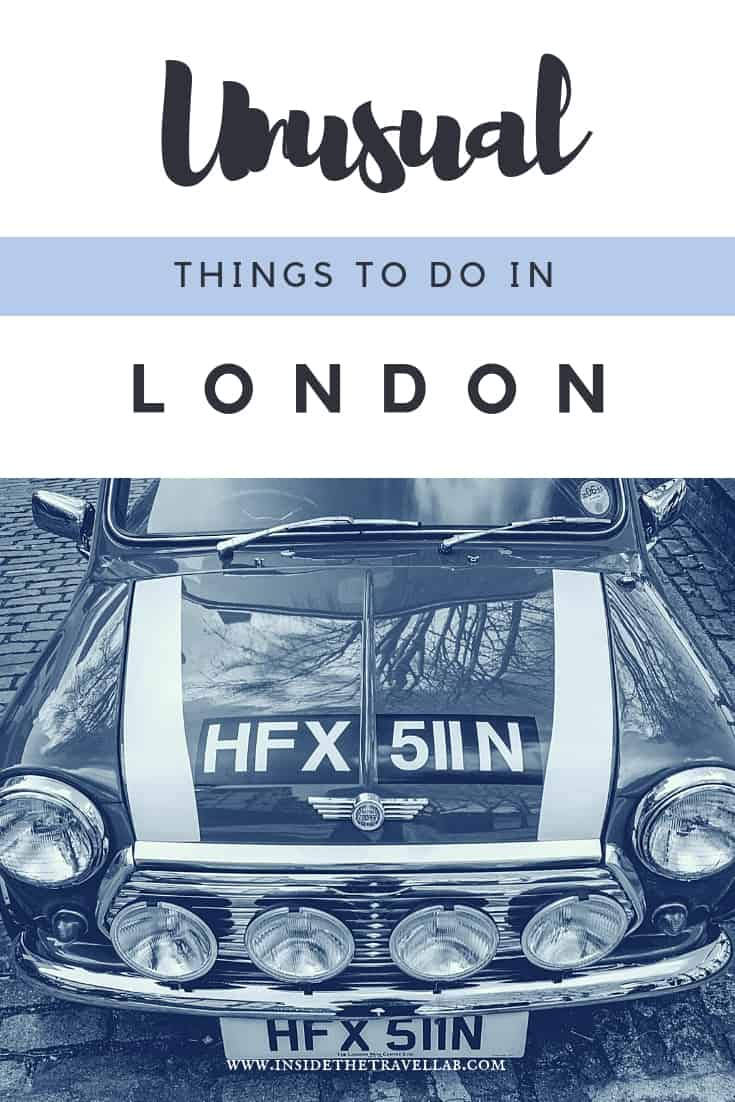 Read this list of unusual things to do in London from the offbeat to the beautiful and enjoy a great trip in London with these travel ideas. Add these to your London bucket list. #London #England #loveLondon