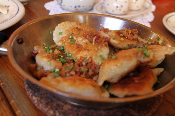 Pierogi with chives