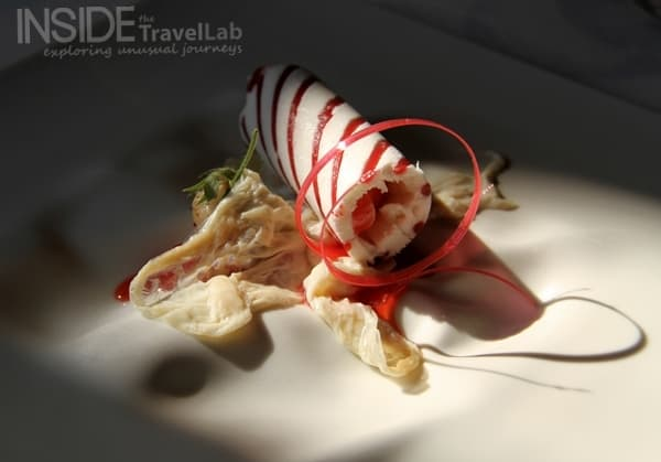 El Celler strawberry and cream