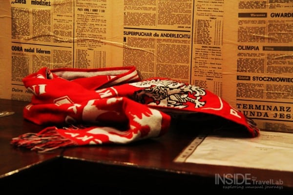 Polish football scarf