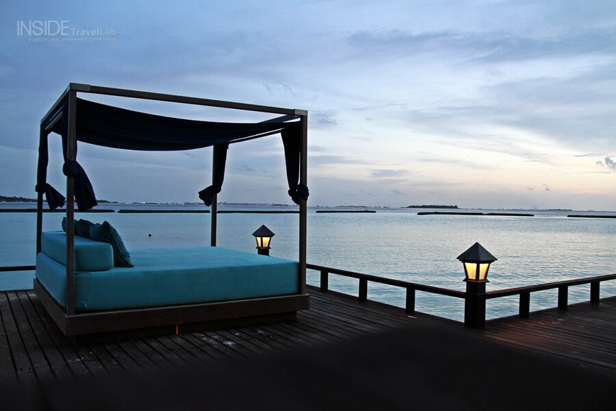 Maldives as the sun sets