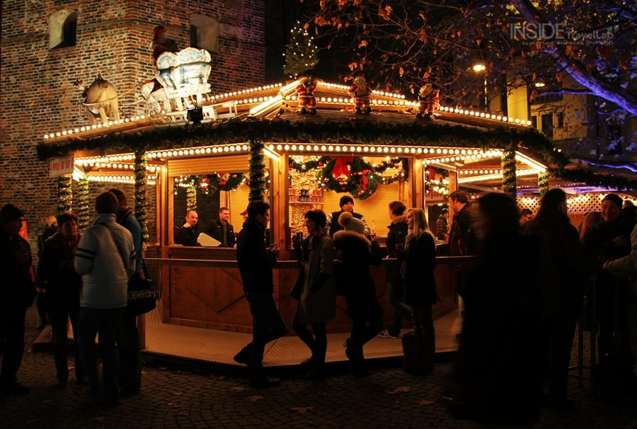 People at Munich Christmas Market