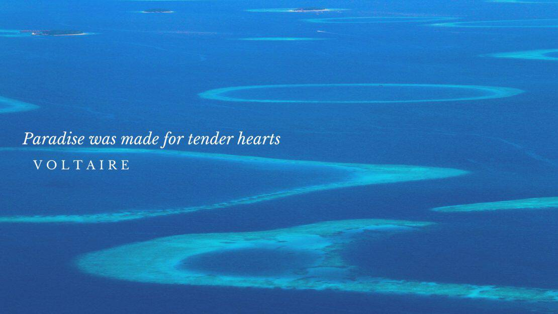 Paradise was made for tender hearts - approach to the Maldives Islands