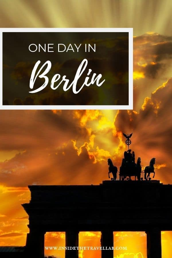 One day in Berlin - 24 hours in Germany with this perfect one day itinerary. #Travel #Germany #Berlin #Itinerary
