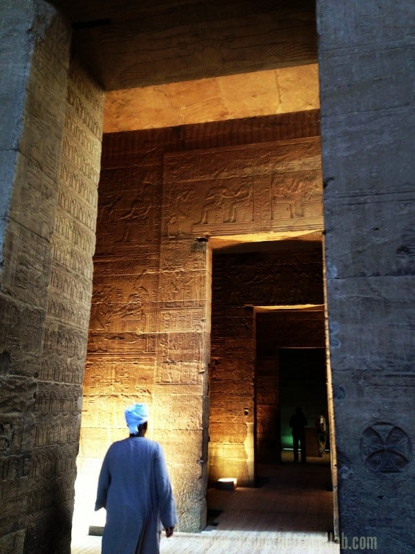 Inside Philae Temple iPhone Pic