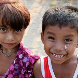 Children in Burma or Myanmar