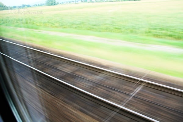 Train tracks blurred