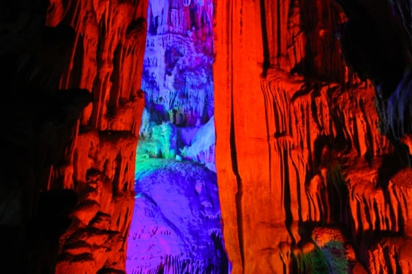 Scarlet curtain, Reed Flute Caves Guilin
