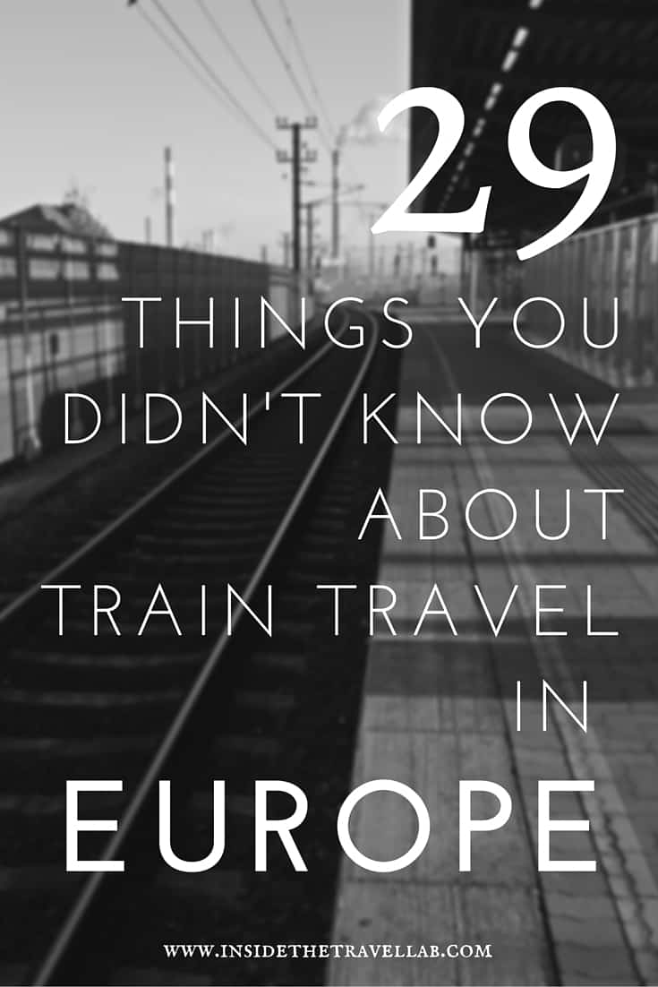 29 things you didn't know about train travel in Europe