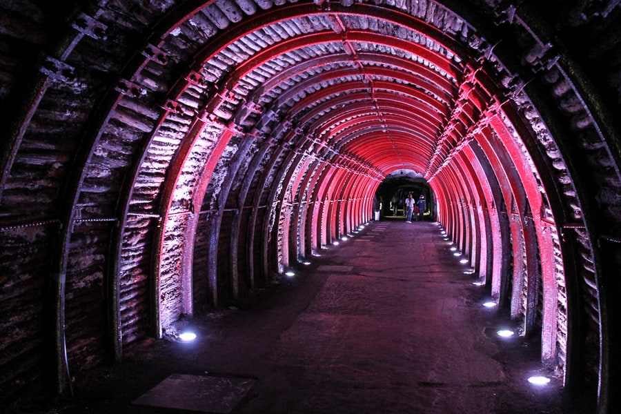 A beautiful picture of the entrance to the Salt Cathedral Zipaquira
