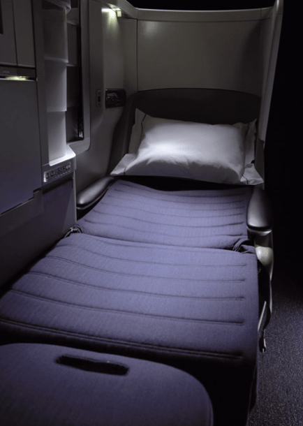 British Airways Busines Class Club World Flat