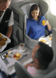 Chatting in British Airways Business Class
