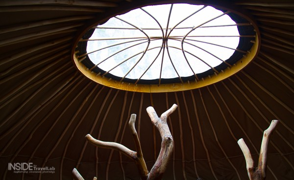 Roof of Coracle Yurt
