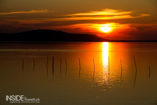 Sunset picture at Lake Varano, Gargano, Italy