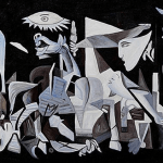 Iconic Guernica in the Reina Sofia Madrid
