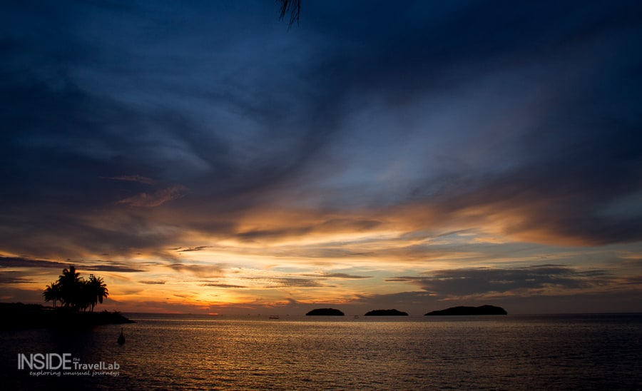 Beautiful places to stay in Sabah at sunset