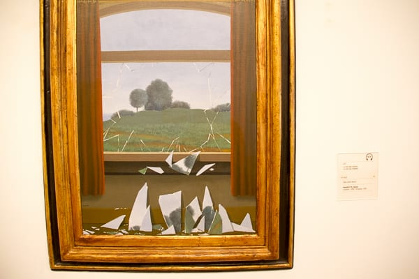 Art in Madrid Thyssen-Broken Mirror Picture