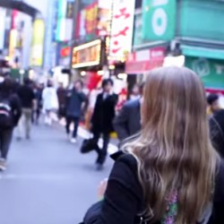 Abi King from Inside the Travel Lab walking through Tokyo