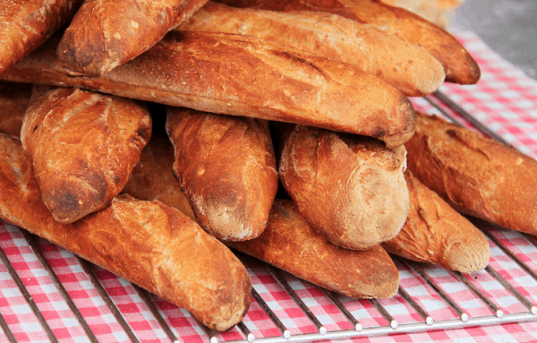 Baguettes from France - ingredient for gazpacho