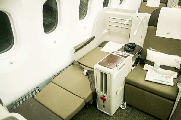 Royal Brunei Business Class Review - Seat View in Dreamliner