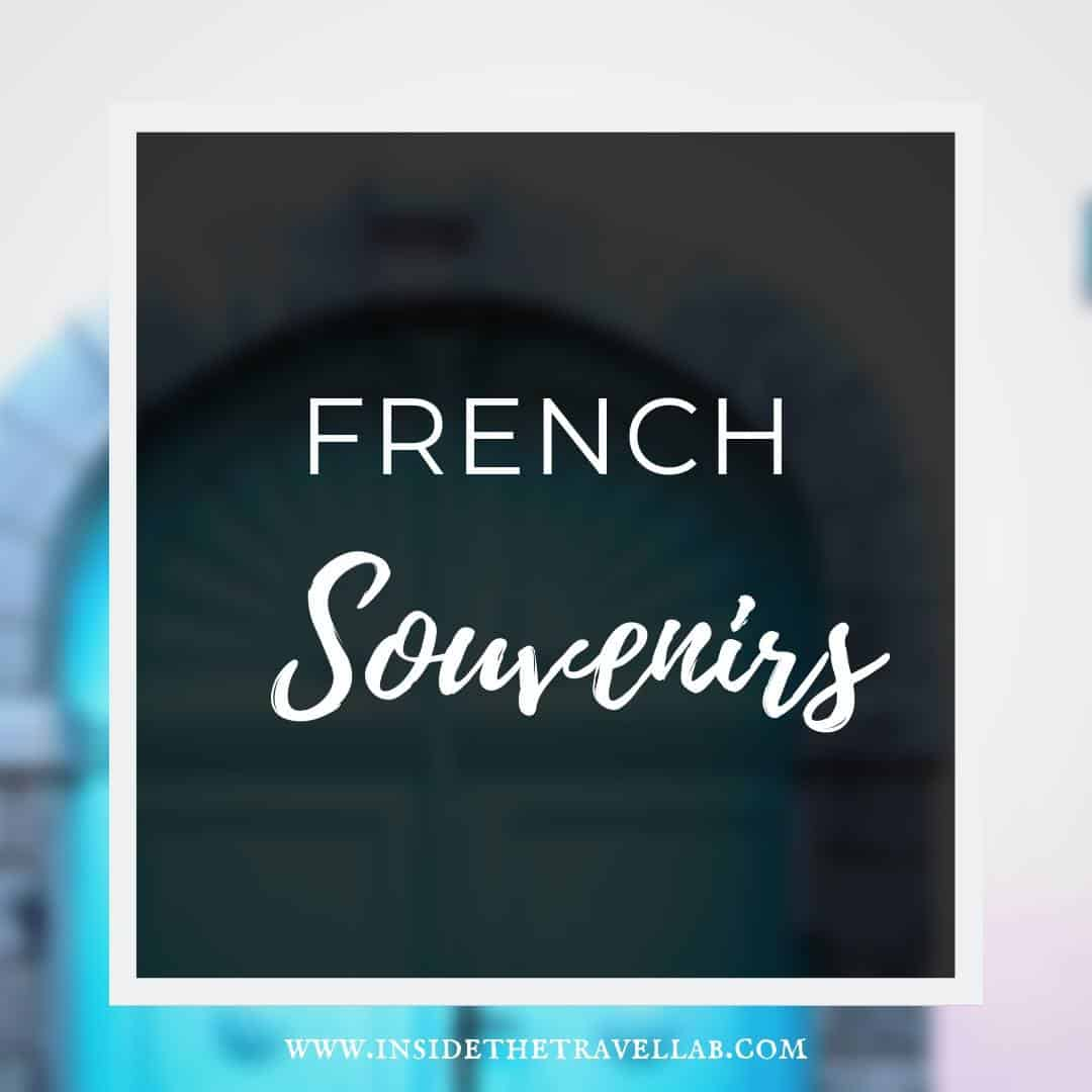 French Souvenirs Sign for article about shopping in France
