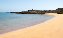 Sandy beach on the Galapagos Islands from @insidetravellab