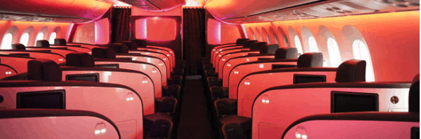 Seat plan in Virgin Business class via @insidetravellab