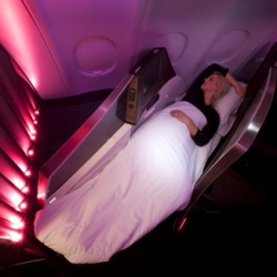 Sleeping in Virgin Business Upper Suite