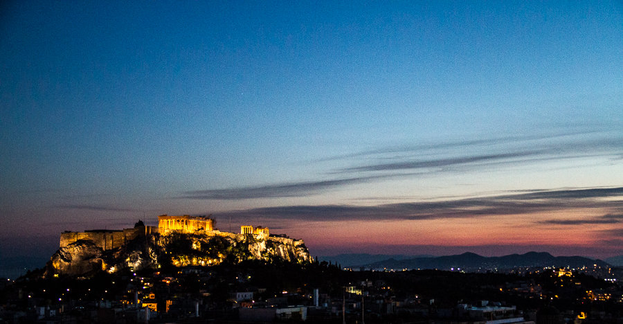 View of the Parthenon in Athens via @insidetravellab