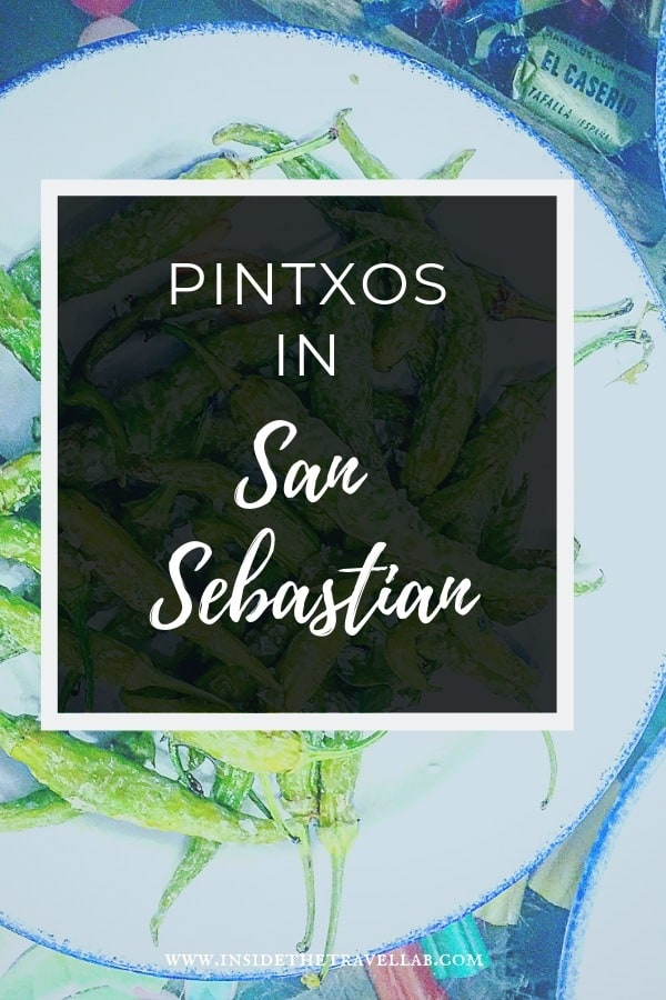 A pintxos guide to the best pintxos in San Sebastian, Spain. Pronounced  - pinchos - this great way of eating bursts with history and flavour in the Basque country. Meet La Gilda, cheese, jamon, olives and more. #Foodandtravel #SanSebastian #pintxos #pinchos #tapas #TravelSpain