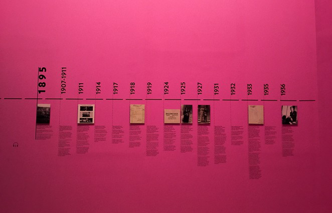 Timeline in the Balenciaga Museum