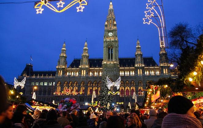 The sparkly stunning Christmas market in Vienna via @insidetravellab