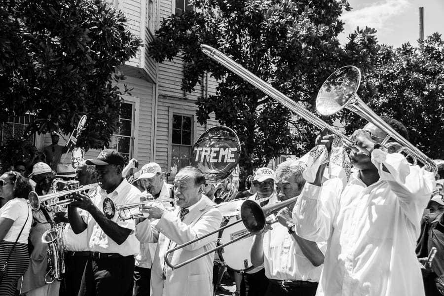 Treme Parade as Part of the Louis Armstrong Satchmofest in New Orleans